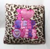 embroidery plush pillow