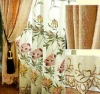 fancy floral embroidery organza light curtain