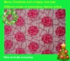 fashion flowers line on the water-soluble embroidery fabric