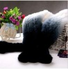fashion genuine rabbit fur scarf