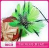 fashion green feather headband