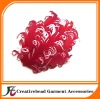 fashion mixed colors curly nagorie feather pad for hair accoriess