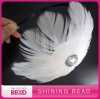 fashion white goosy feather headband