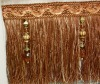 fashionable curtain fringe for decorative with beads and balls