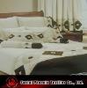 fashionable patchwork applique faux suede bedspread set
