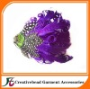 fashional purple curly feather headbands