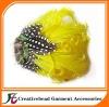 fashional yellow feather headbands
