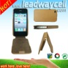 fashionble leather goods mobile phone leather case for iphone 4G