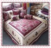floral 100% jacquard bedding set