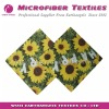 flower printed microfiber cleaning cloth
