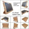 for ipad2 leather smart cover case , MOQ:300pcs wholesale