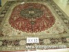 four seasons pattern silk rug