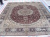 four seasons pattern silk rug