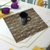 geometry design square pvc waterproof insulated table placemat