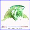green Feather Flower Headband