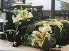 green printed 100% cotton bed cover