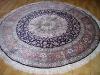 hand-knotted artifical silk carpet ,round silk carpet