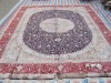 hand made persian silk rug