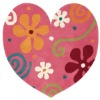 hand tufted acrylic children heart shaped rug