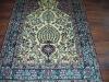 handknotted golden silk carpet ,persian silk rugs