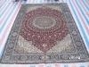handmade Persian silk carpet