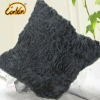 handmade Pleated style black decorative square sofa Cushion