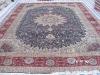 handmade cashmere silk rug