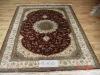 handmade persian design silk carpet