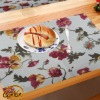handmade rectangle linen cotton  jacquard printed style dining table mat