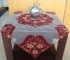 handmade velvet beaded table cover
