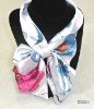 handsome scarf with flower design