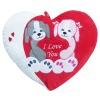 heart shaped bear cushion