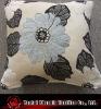 high quality chenille floral cushion