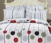 high quality cotton printed bed cover set