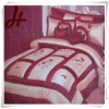hot new design 100% polyester taffeta bed cover set home textile
