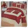 hot new design 100% polyester taffeta bedding set/home textile