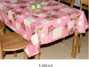 hot sale print PVC table cloth in new design with non-woven fabric backing
