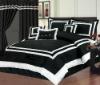 hot sell fashion plain dyed bedding set