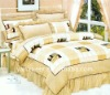 hot selling home textile 100% cotton 4pcs bed sheet set