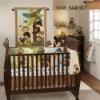 infant plain embroidered crib bedding