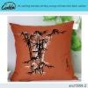 ink painting bamboo printing orange chinese wind back cushion