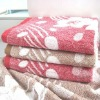 jacquard 100% cotton bath towel