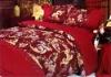jacquard and printed bedding set