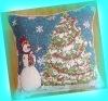 jacquard cushion,chirstmas cushion cover,throw pillow,home textile,t/c cushion cover
