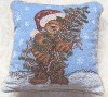 jacquard cushion cover  pillow  chirstmas cushion cover