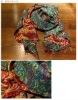 kantha reversible vintage handmade silk shawls/scarf/stoles