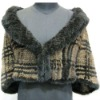 knitted fur tippet
