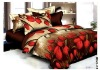 lastest 4 pcs set disperse printing bed linens