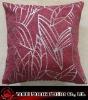 leaf chenille cushion cover