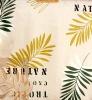 leaf design vinyl table cloth